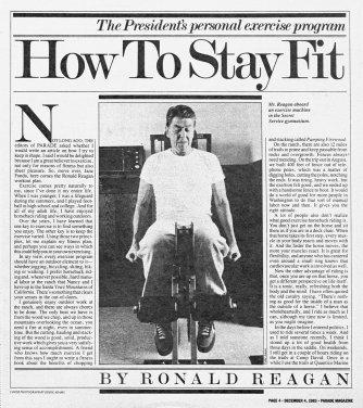 Reagan exercise